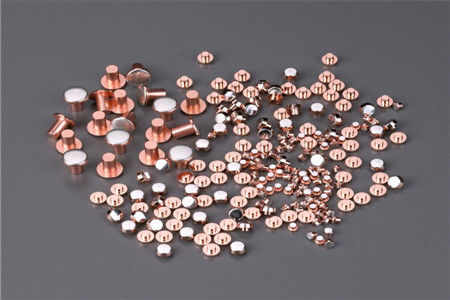 ISO9001 Approved High Quality Fine Silver Electrical Contacts / Copper Rivet Fixed